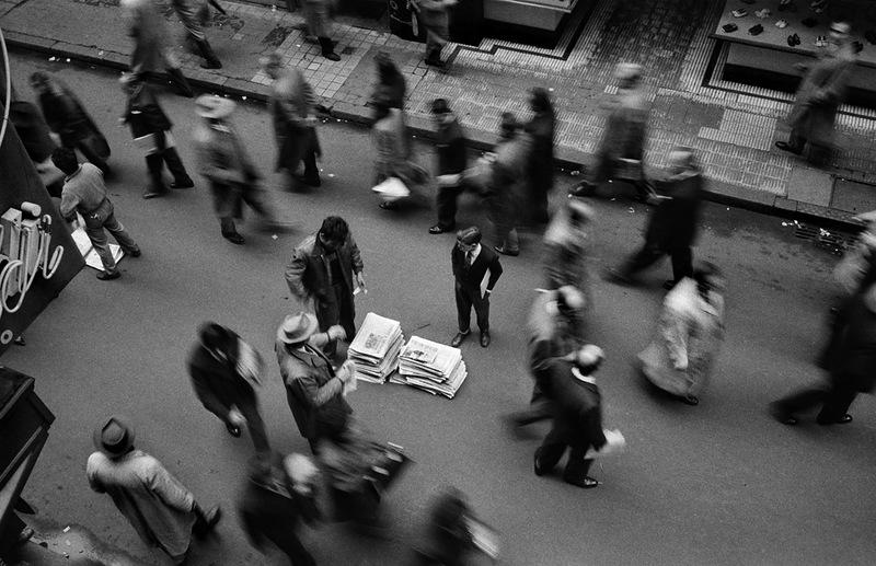 ARGENTINA. Buenos Aires.1960.Calle Florida. Newspaper seller.