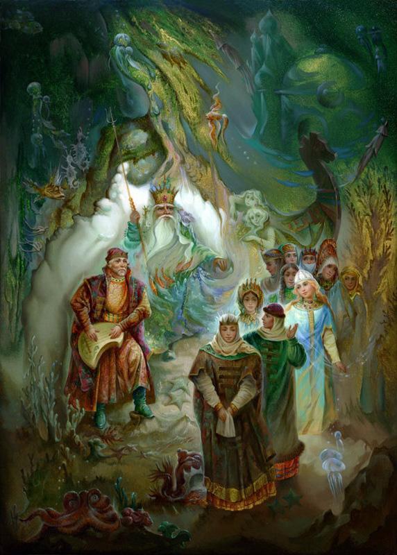 Русские сказки в Федоскинских миниатюрах.