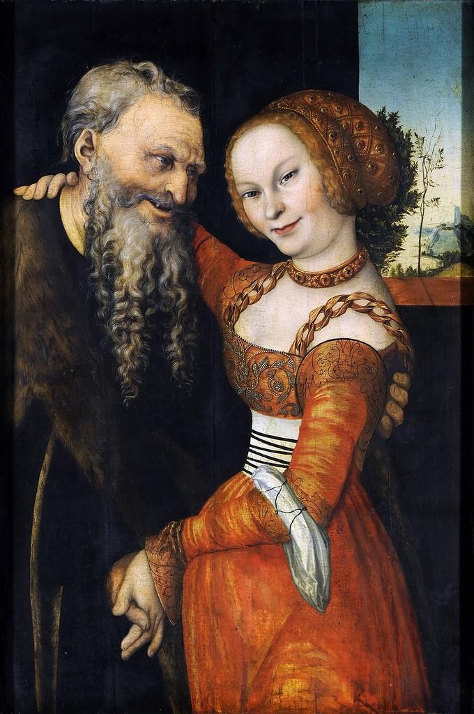 Куртизанка и старик - Старый дурак (Courtesan and old man - The old fool)_ок.1530_86.7 х 58.5_д.,м._Нюрнберг, Национальный музей.jpg