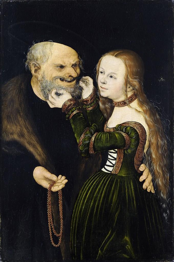 Куртизанка и старик - Старый дурак (Courtesan and old man - The old fool)_ок.1530_38.7 х 25.7_д.,м._Дюссельдорф, Кунстпалас.jpg