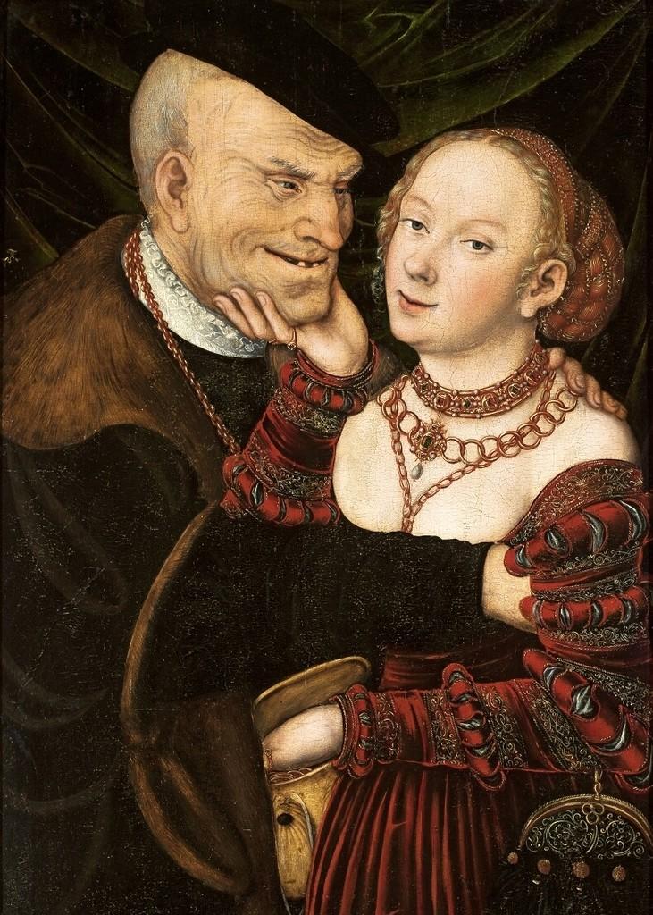 Куртизанка и старик - Старый дурак (Courtesan and old man - The old fool)_1550_74.5 х 48.5_д.,м._Варшава, Национальный музей.jpg