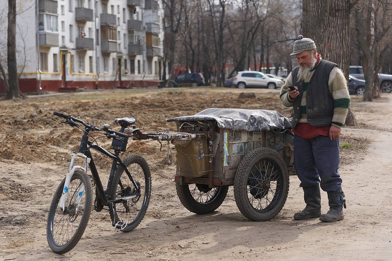 Старьёвщик. Фото: Ю. Фёдорова
