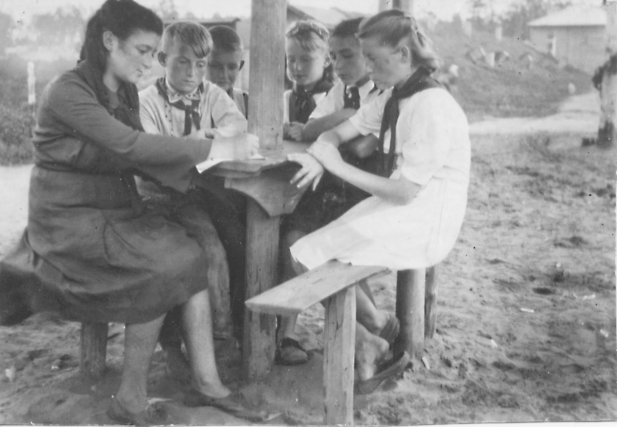 1946. Штаб дружины пионерского лагеря
