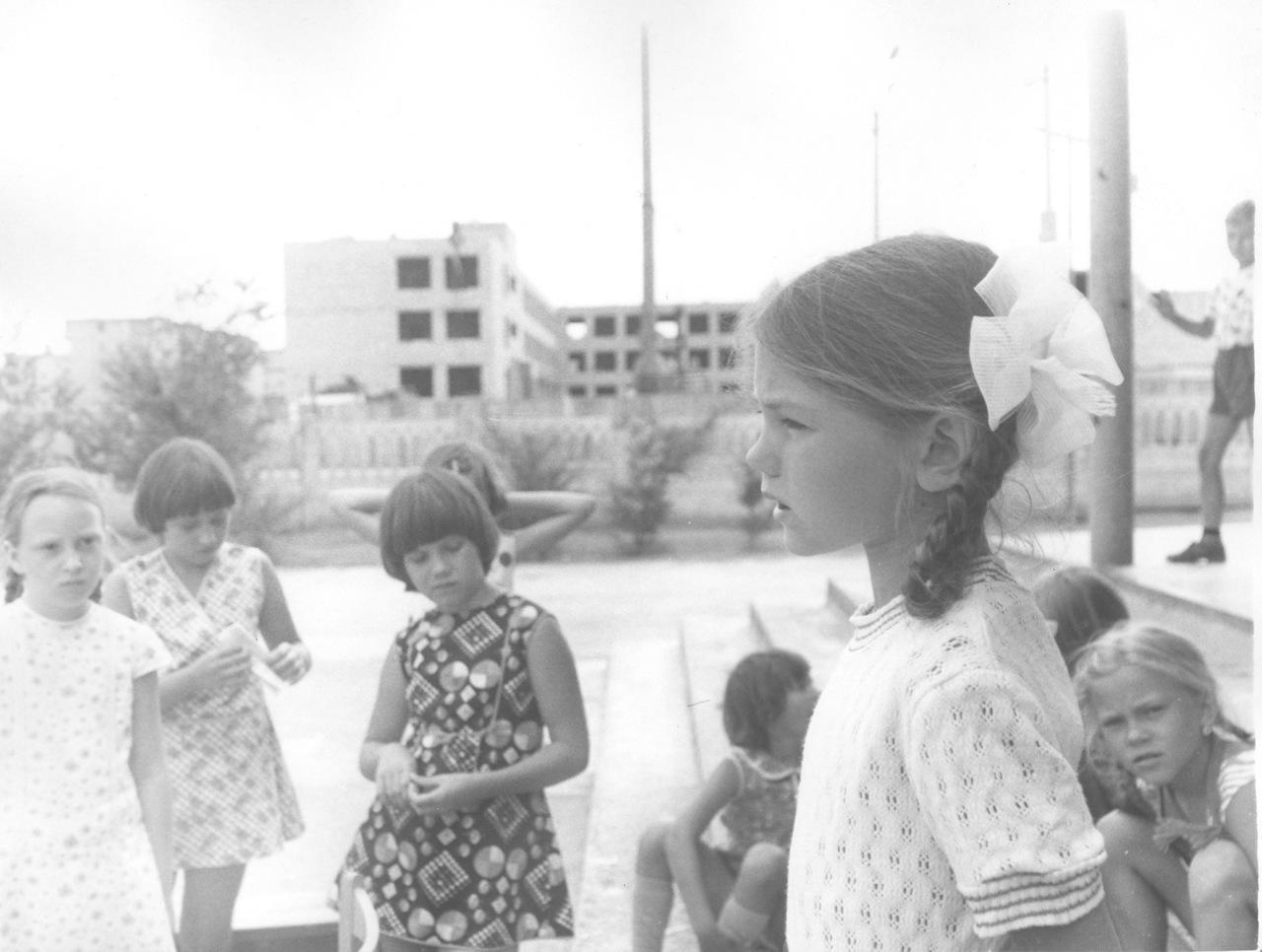 1979. Летний пионерский лагерь в шк. им. 50 летия Октября