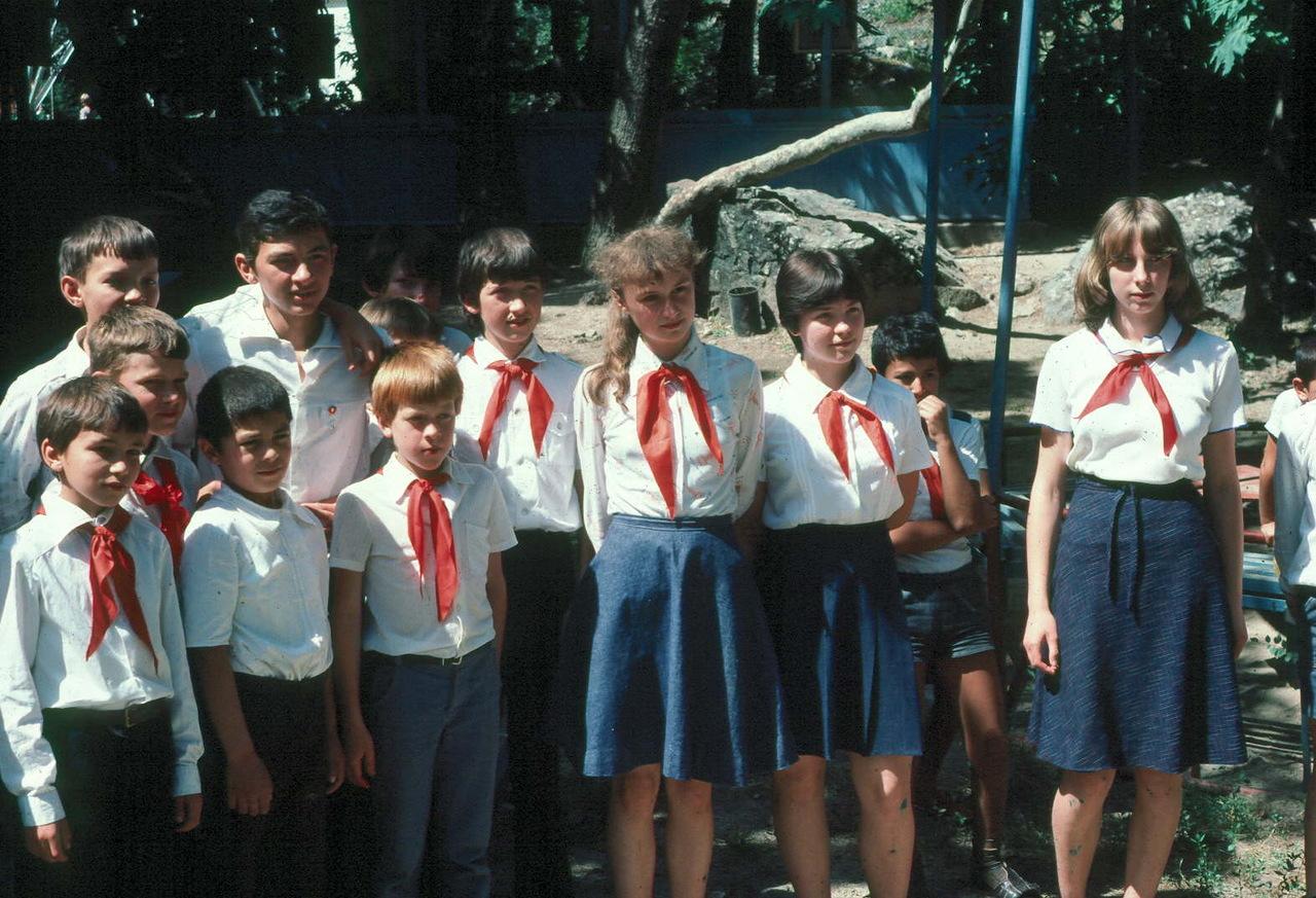 1983. Пионеры в Зеравшанских горах Таджикской ССР