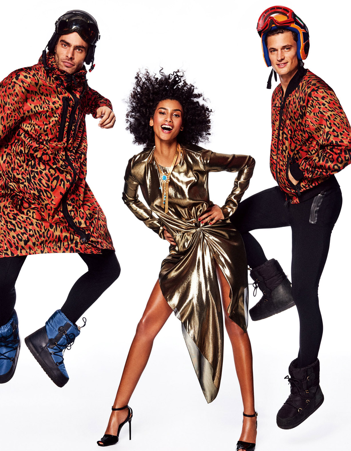 спортивная и гламурная Имаан Хаммам / Imaan Hammam, Garrett Neff, Jon Kortajarena by Giampaolo Sgura - Vogue Japan May 2017