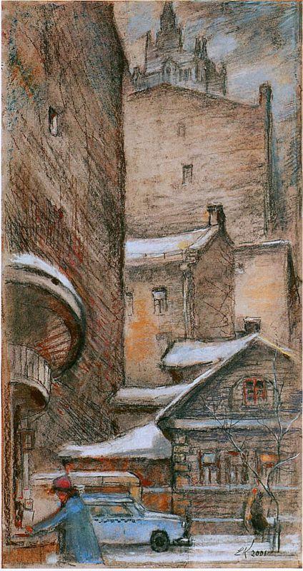 Е. Куманьков. В Плотников переулке 2001.jpg