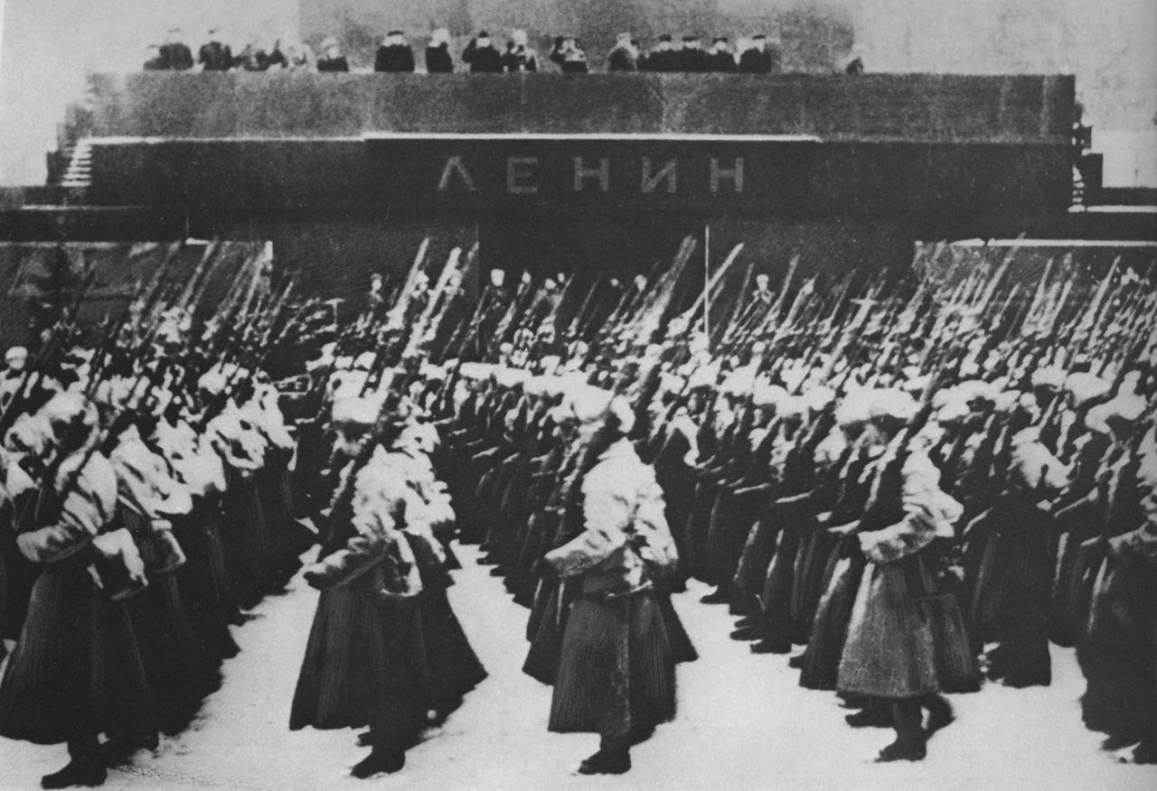 Красная площадь. Парад 1941 года.