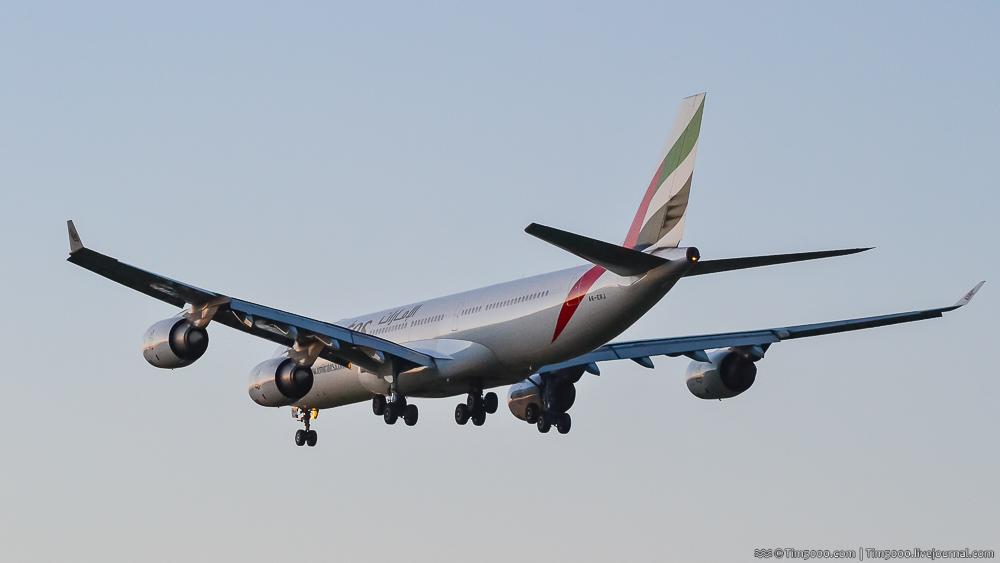 Airbus A340 в Борисполе