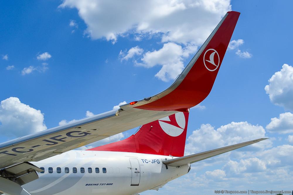 Внушительные винглеты Boeing 737-800