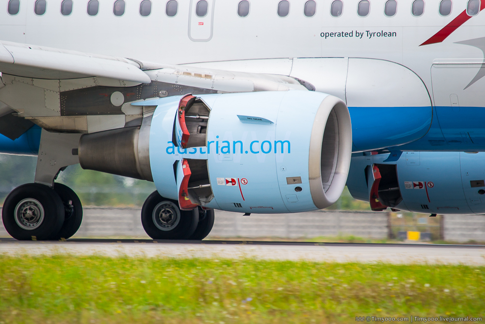 Airbus A319 реверс тяги