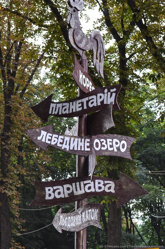 Указатель в парке
