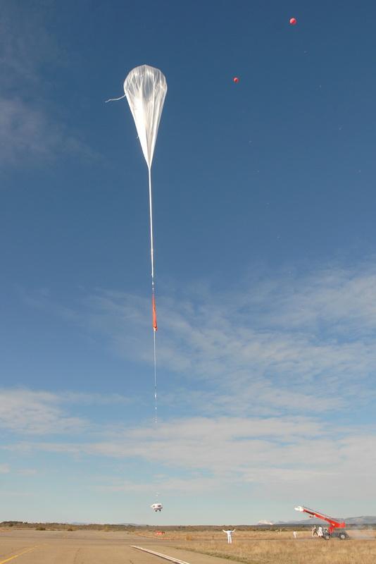 Тестовый полет стратосферного аэростата Bloon