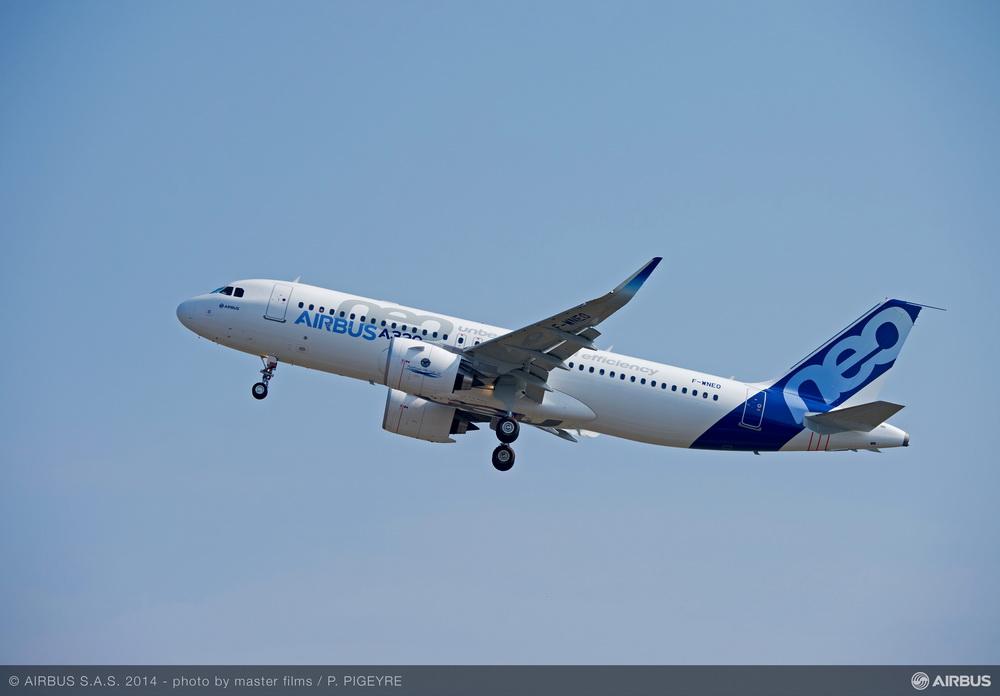 Первый полет Airbus A320neo