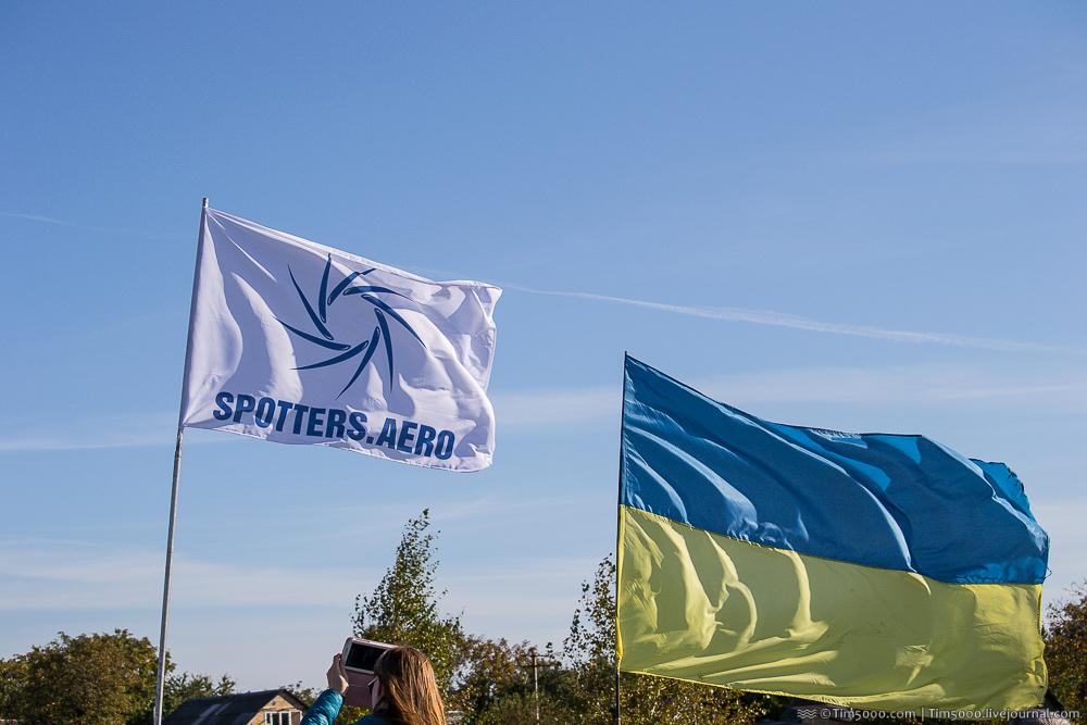 Флаг Украины и флаг Spotters.aero