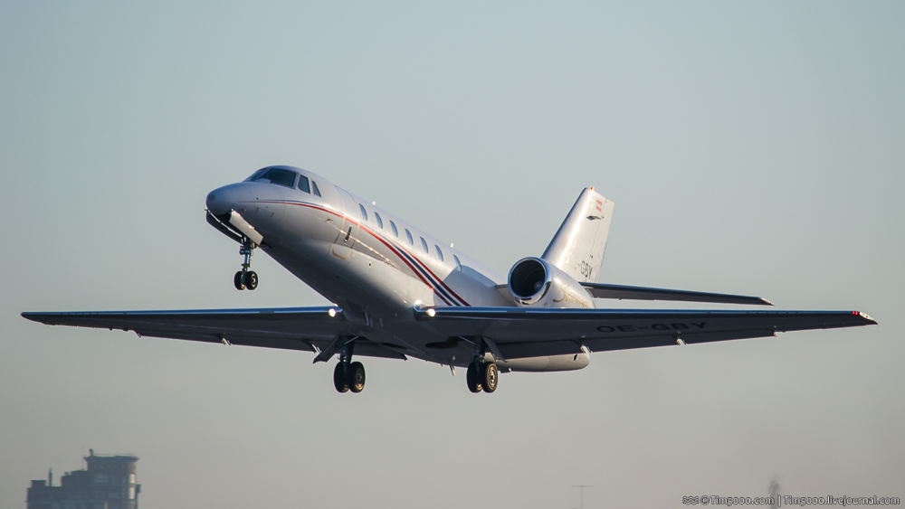 Взлет Cessna 680 Citation Sovereign