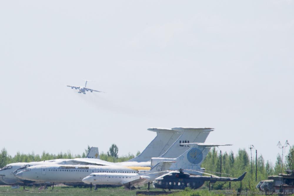 визуальный заход Ил-76МД
