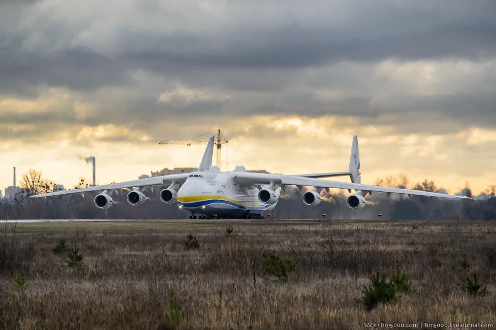 Ан-225 Мрия улетела в Донкастер-Шеффилд