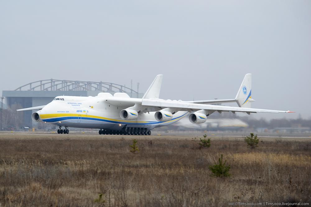 Ан-225 «Мрия» улетела в Лейпциг