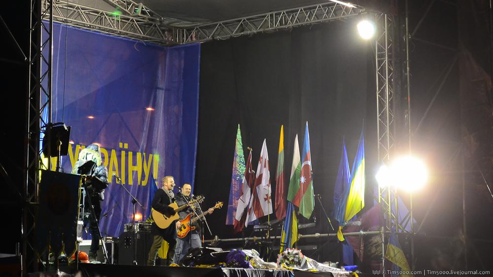 Группа Биплан в Киеве на Евромайдане
