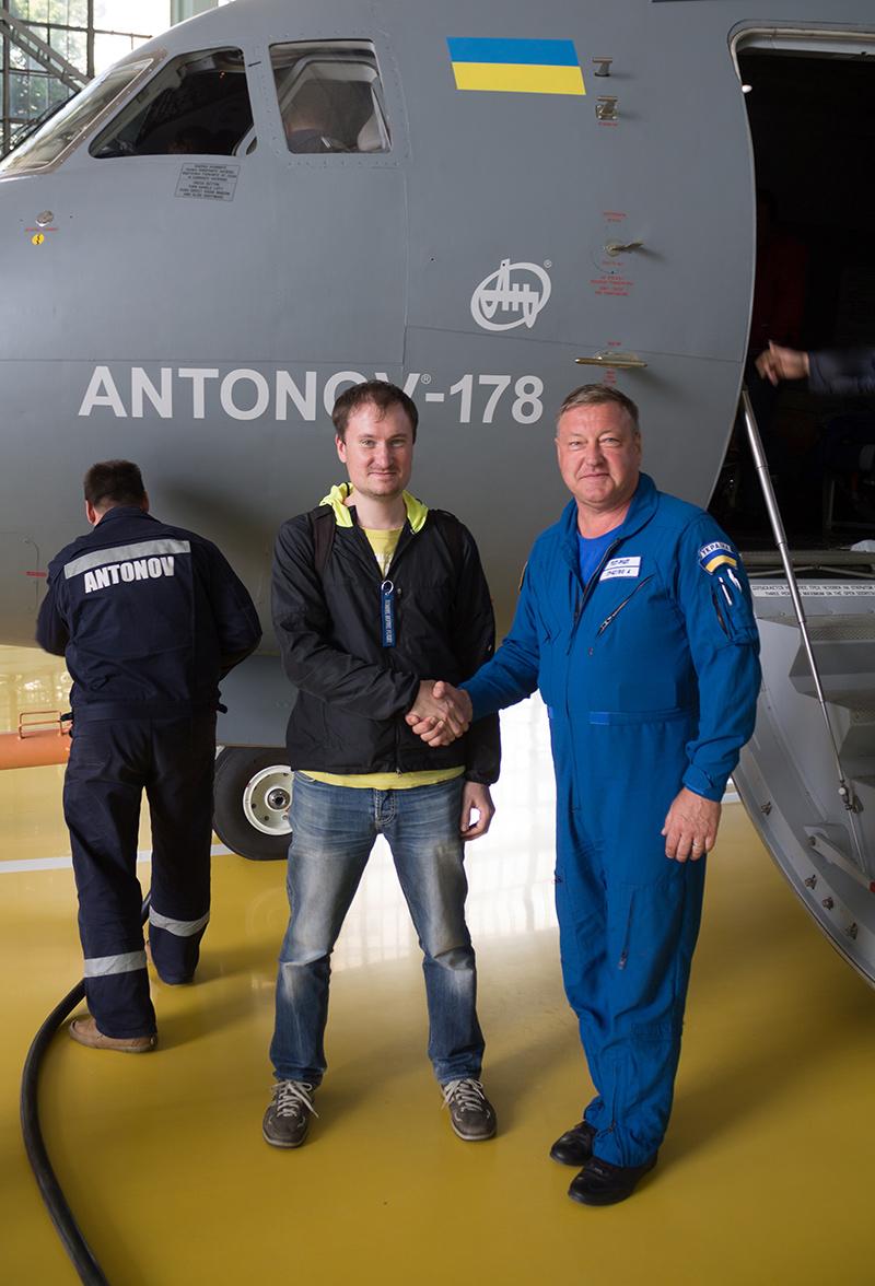 Командир экипажа Ан-178, летчик-испытатель 1 класса Андрей Спасибо