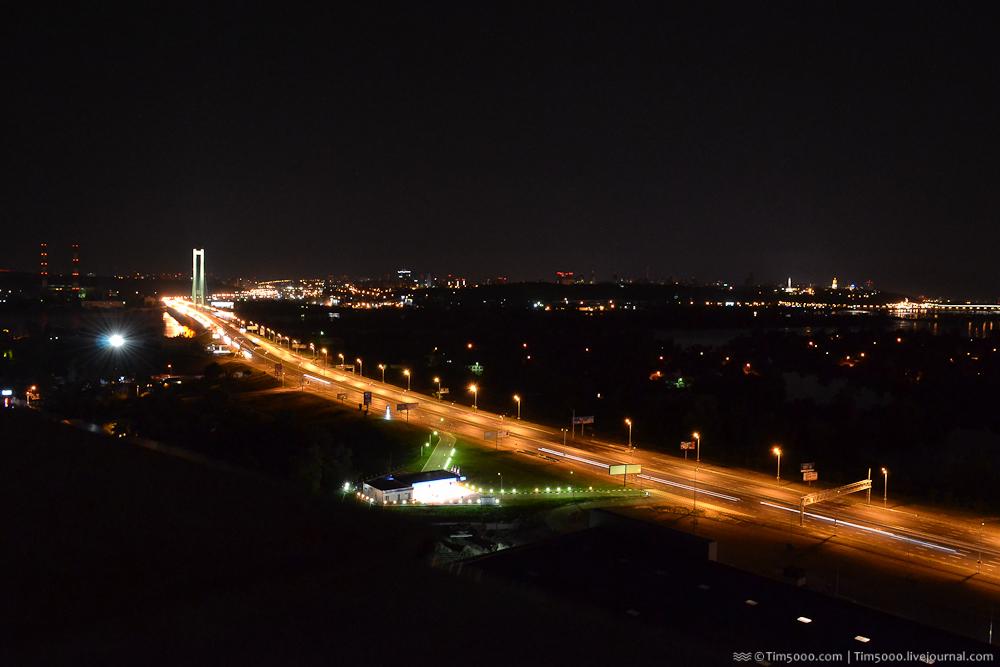 Ночной Киев. Южный мост