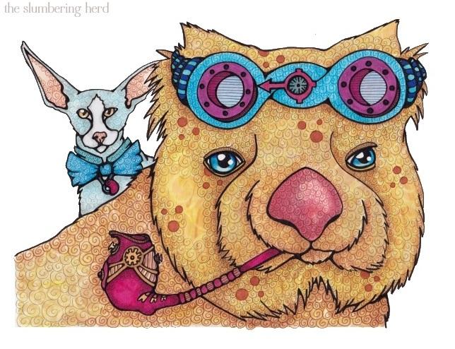 вомбат и кот