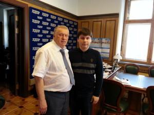 В обнимку с Жириновским