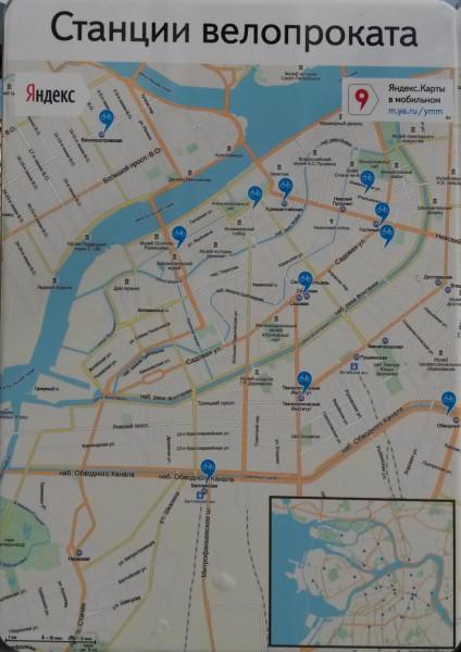 Велопрокат, карта стоянок