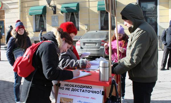 20130317, Малая Конюшенная, столик, термос и народ