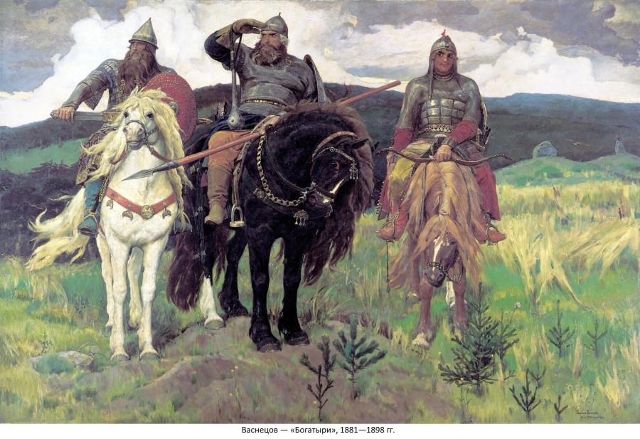 Васнецов — «Богатыри», 1881—1898 гг.