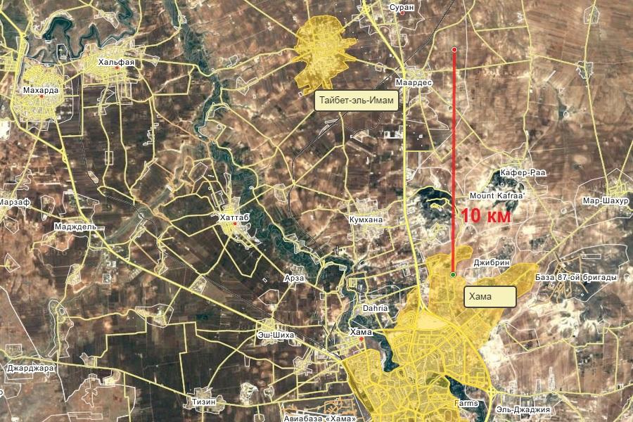 Сирия, провинция Хама, город Хама и города к северу от него: Махарда, Халфая, Тайбет-эль-Имам