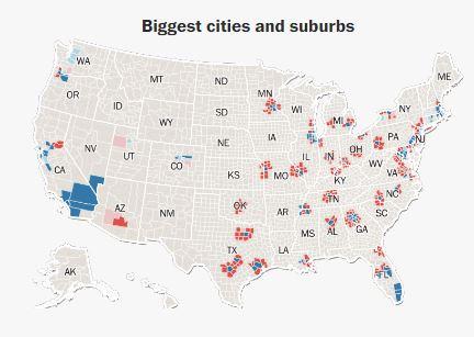 По городам - большие города