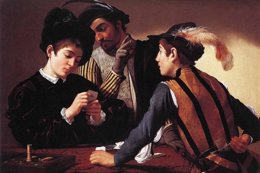 Микеланджело - Шулеры (1594 год)