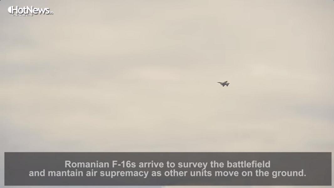 Одиночный румынский самолет F-16 якобы обеспечивает превосходство над противником в воздухе
