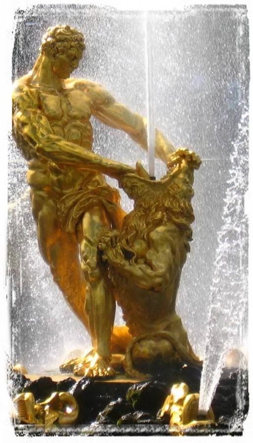 Самсон, раздирающий пасть льва. Крупный план