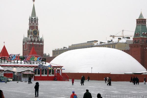 Зима 2012-2013, мавзолей на ремонте