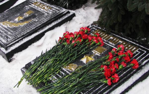 Цветы в день 70-летия победы в Сталинградской битве