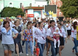 На параде летом