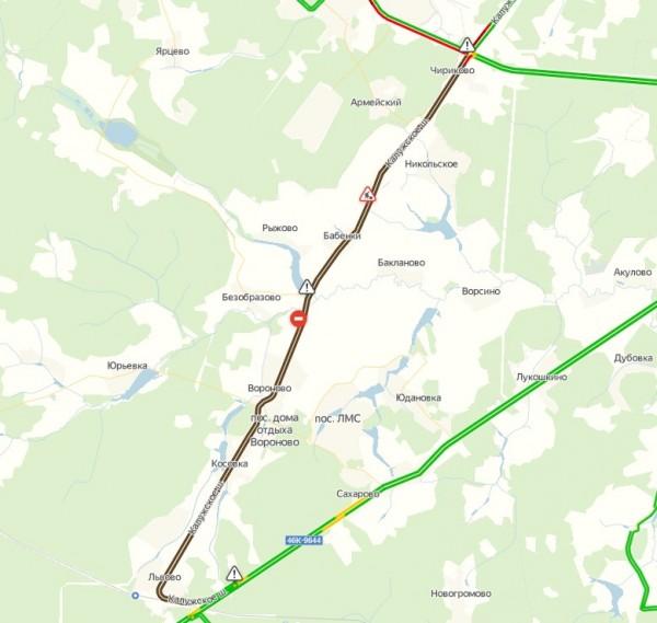А130 от Чириково до Крестов и обратно (20 км) полностью перекрыта
