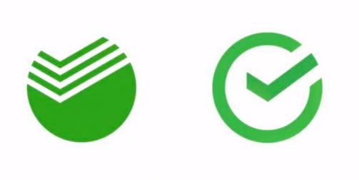 старый и новый логотип Сбербанка