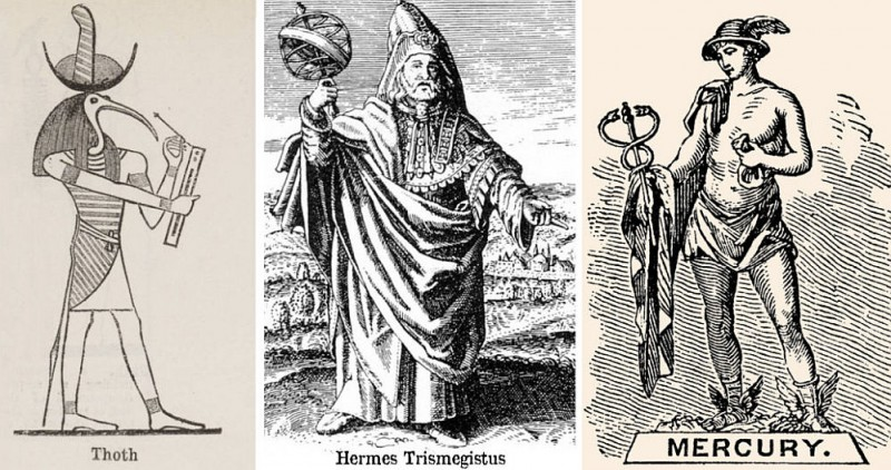 Меркурий, он же Гермес Трисмегист и египетский Тот