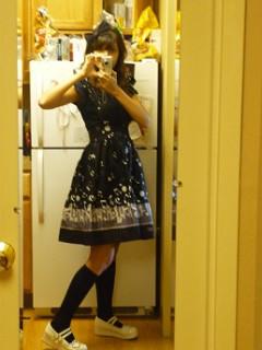 Me..semi-lolita'd for class :P