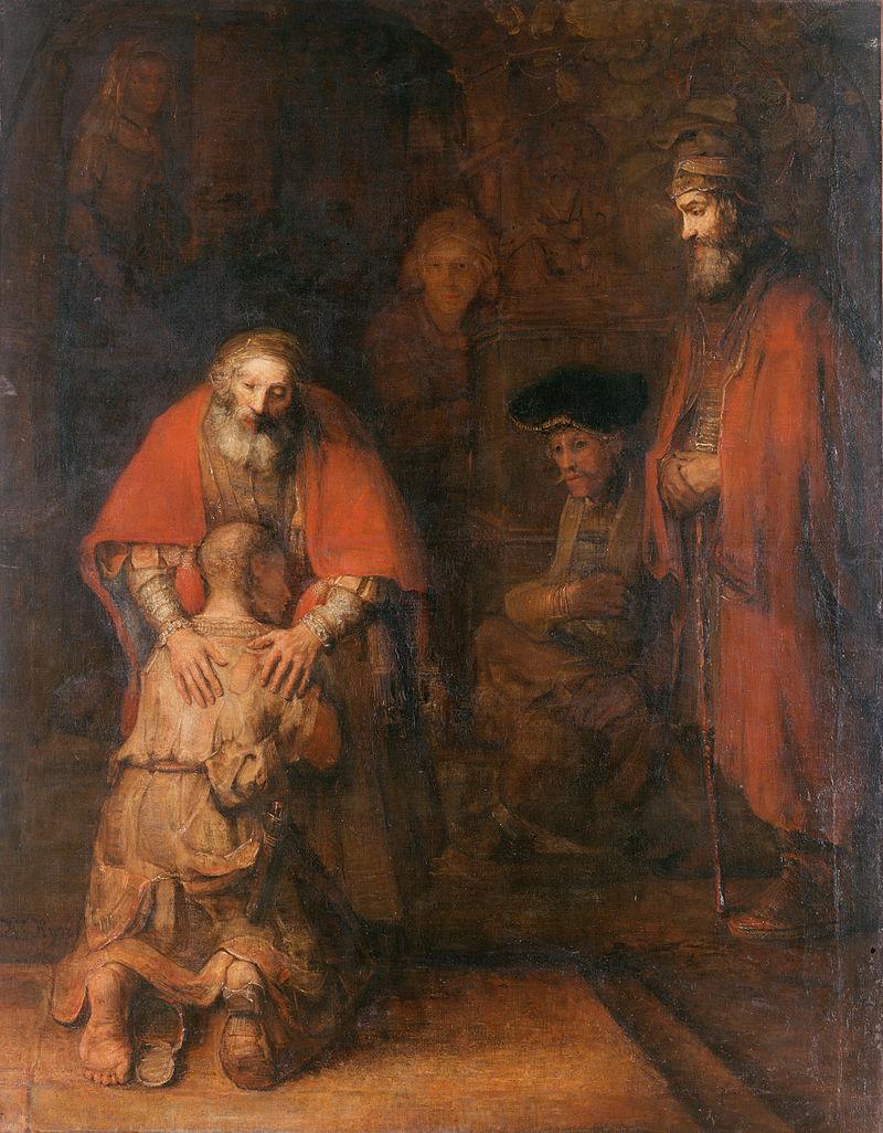 Возвращение блудного сына, Рембрандт Харменс, 1668 г.