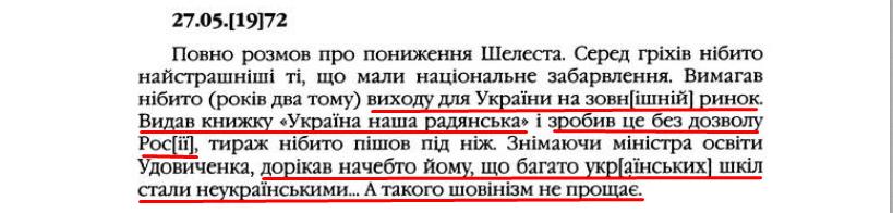 """О. Гончар, """"Щоденники"""", ст. 116, Том II, 2003 р."""