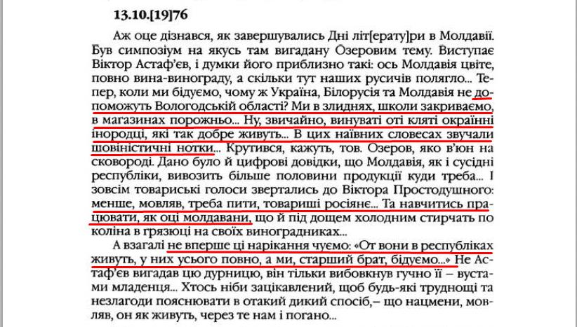 """О. Гончар, """"Щоденники"""", ст. 282, Том II, 2003 р."""