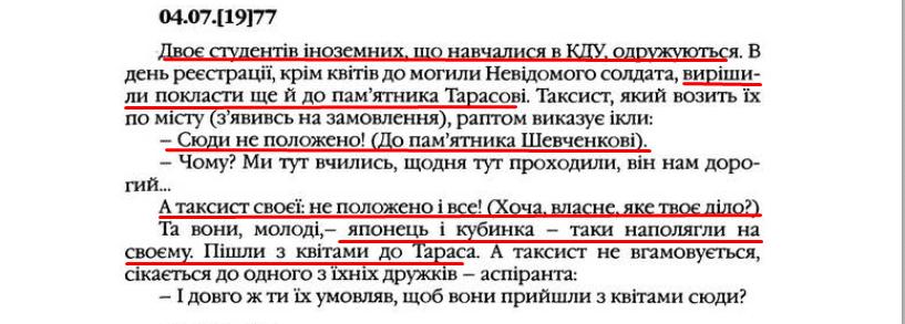 """О. Гончар, """"Щоденники"""", ст. 309, Том II, 2003 р."""