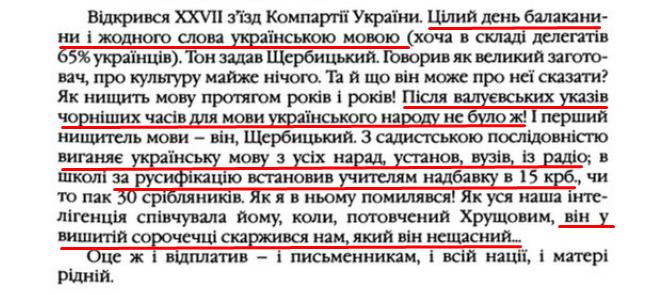 """О. Гончар, """"Щоденники"""", ст. 81 , Том III, 2003 р."""