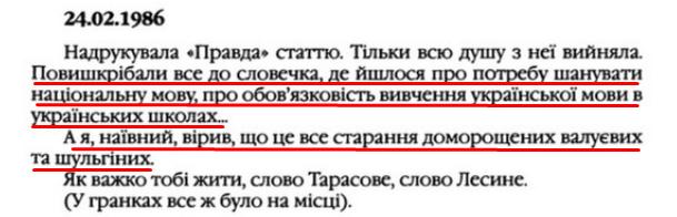 """О. Гончар, """"Щоденники"""", ст. 83 , Том III, 2003 р."""