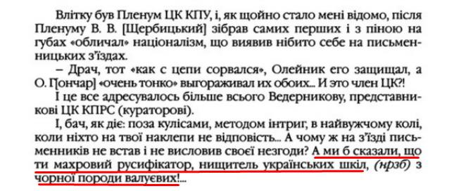 """О. Гончар, """"Щоденники"""", ст. 121 , Том III, 2003 р."""